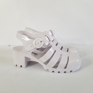 American Apparel White Jelly Shoes 8
